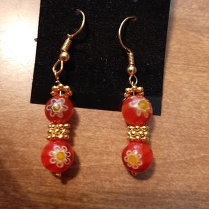 Gorgeous Handmade Glass Bead Designed Earrings